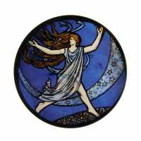Coaster - dancing girl  (c) Stained Glass Museum