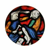 Coaster - Hammer and Tongs  (c) Stained Glass Museum