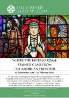 Where the Buffalo Roam Exhibition 2019-20  (c) Stained Glass Museum